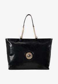 Versace Jeans Couture - ROUND BUTTON PATENT - Shopping bag - nero - 5