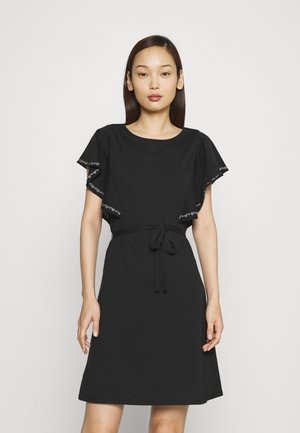 VIOPPA TIE BELT DRESS - Jersey dress - black