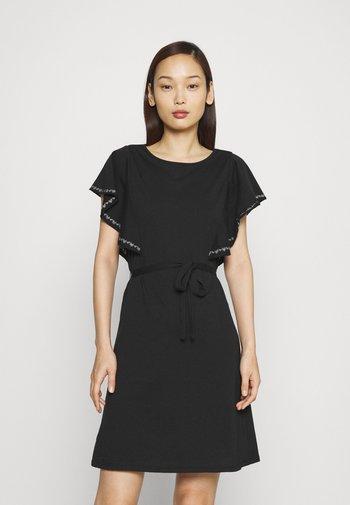 VIOPPA TIE BELT DRESS - Jersey dress - black