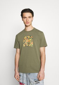 WAWWA - JUNGLE LOGO UNISEX - Print T-shirt - khaki green - 0