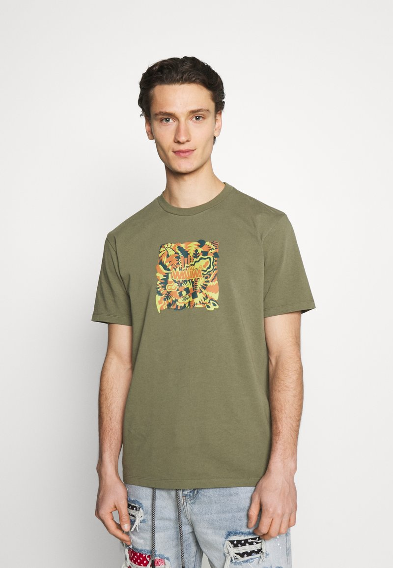 WAWWA - JUNGLE LOGO UNISEX - Print T-shirt - khaki green