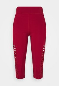 Even&Odd active - 3/4 sports trousers - dark red - 3