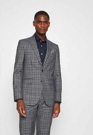 GREY NAVY TARTAN - Veste de costume - grey