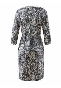 Alba Moda - Jersey dress - grau,weiß - 3