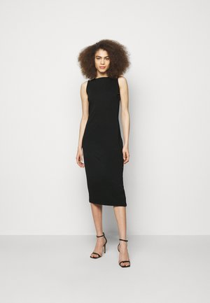 SNAP DRESS - Žerzejové šaty - black