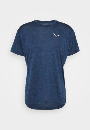 PUEZ DRY TEE - Basic T-shirt - dark denim melange