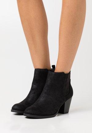 PINTOSY - Kovbojské/motorkářské boty - black