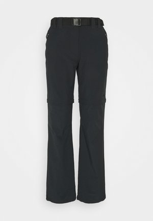 WOMAN ZIP OFF PANT - Stoffhose - antracite