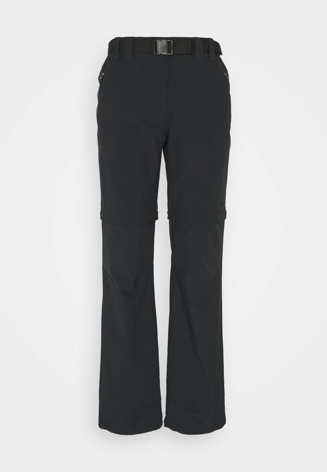 WOMAN ZIP OFF PANT - Bukser - antracite