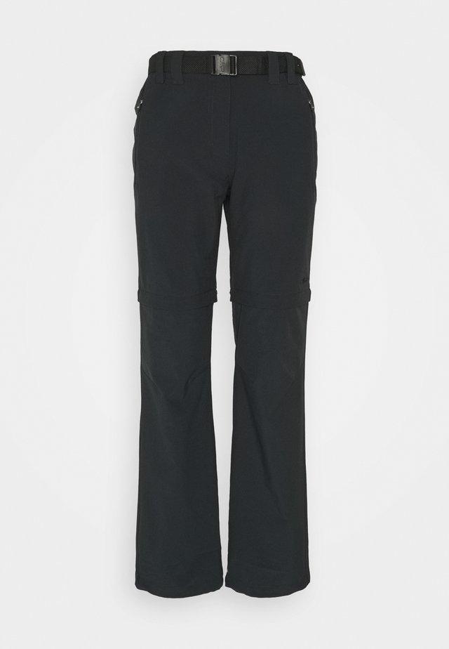 WOMAN ZIP OFF PANT - Pantalon classique - antracite