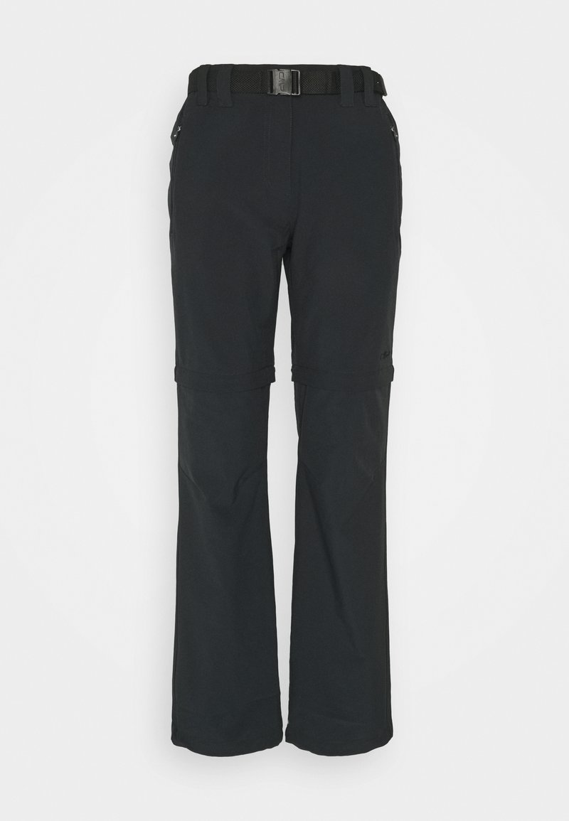 CMP - WOMAN ZIP OFF PANT - Trousers - antracite