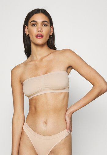 2 PACK - Olkaimettomat/muut rintaliivit - nude