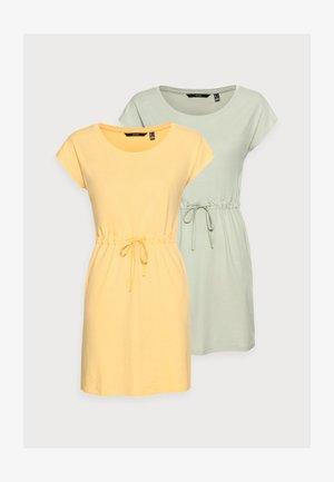 VMAPRIL SHORT DRESS 2 PACK - Jerseykjole - desert sage/cornsilk
