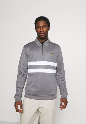 ZIP WIDE STRIPE - Sweatshirt - mid flat grey