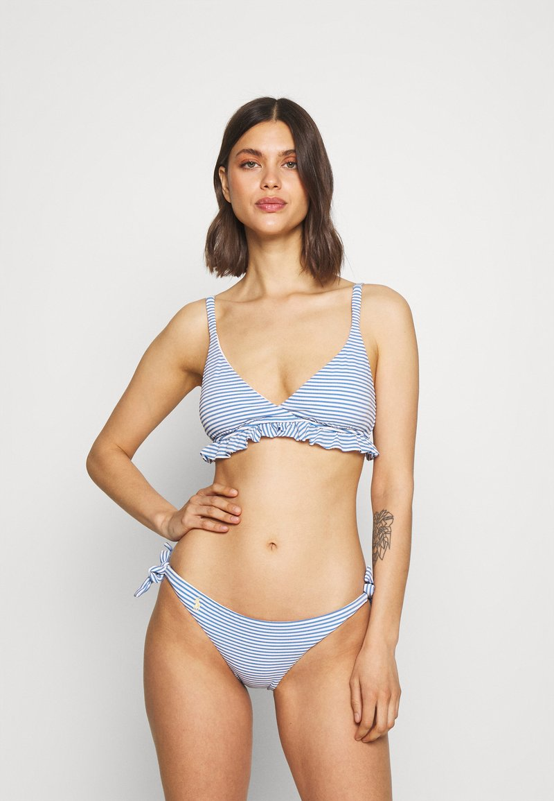 Polo Ralph Lauren - STRIPE BRA - Bikini top - denim