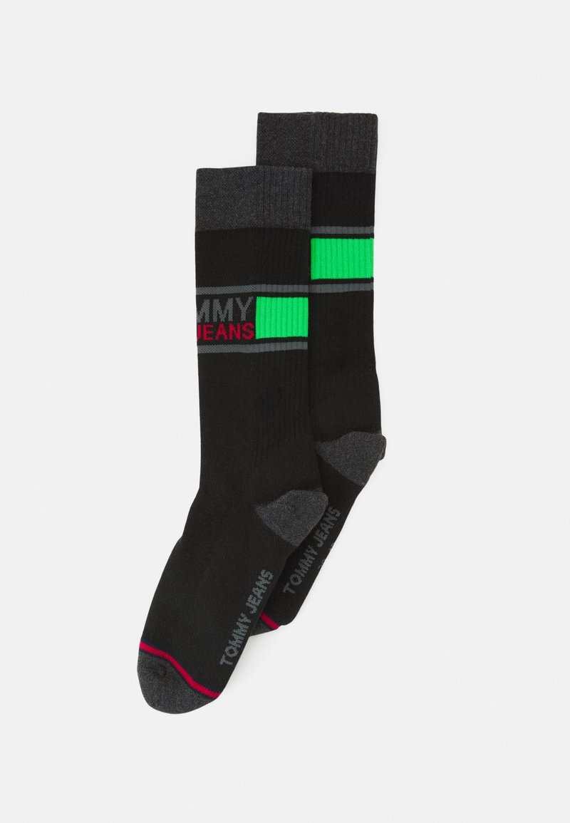 Tommy Jeans - SOCK 2 PACK UNISEX  - Ponožky - green/black