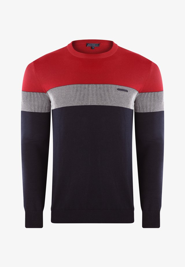 Maglione - navy-bordeaux