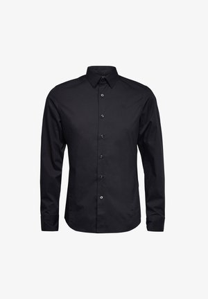 DRESSED SUPER SLIM SHIRT L\S - Camicia - dk black