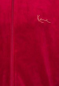 Karl Kani - SIGNATURE TRACK JACKET UNISEX - Hoodie met rits - dark red - 2