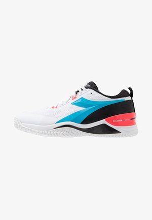 SPEED BLUSHIELD 4 AG - Multicourt tennis shoes - white/blue fluo