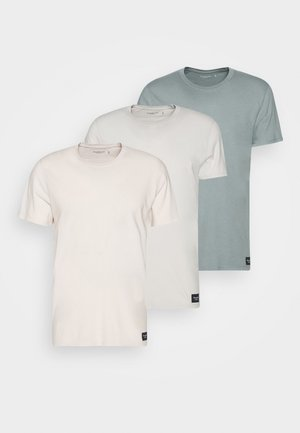 CREW 3 PACK - Jednoduché triko - pink/tan/blue