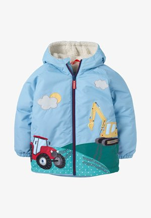 MIT SHERPA-FUTTER - Winter jacket - frosted blue vehicles