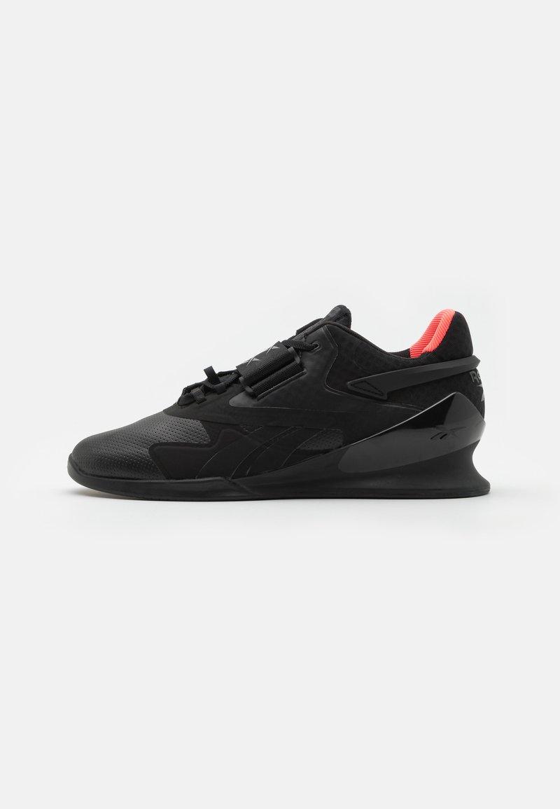 Reebok - LEGACY LIFTER II - Sports shoes - black/orange fluo/true grey