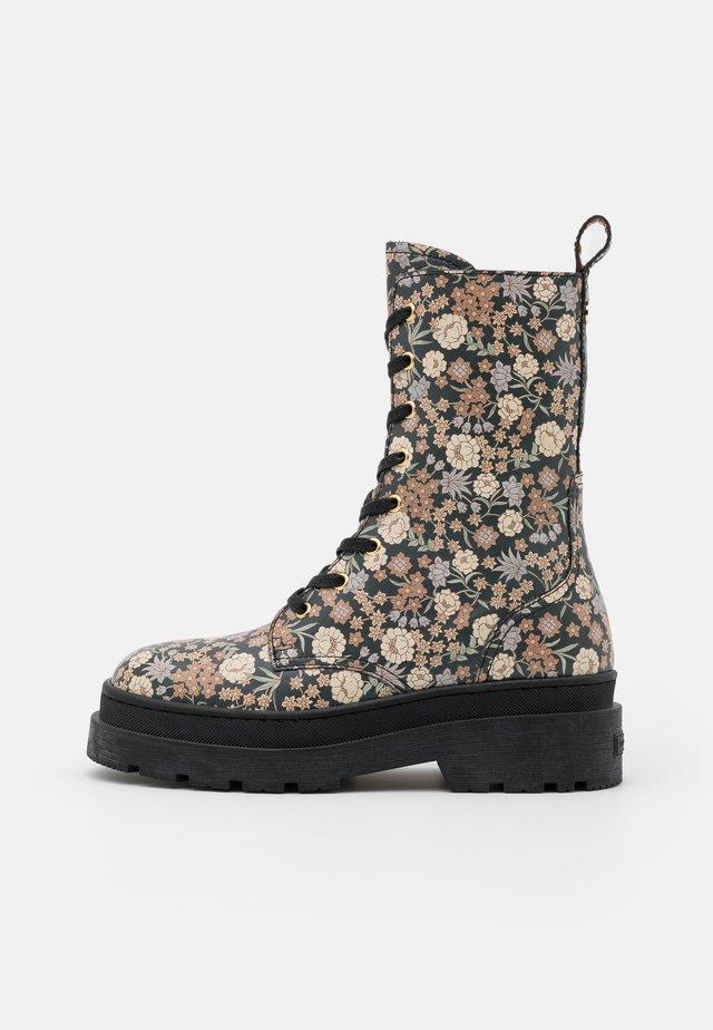 AUBRI - Platform ankle boots - black/multicolor