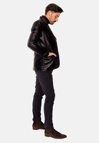 LEATHER HYPE - HYPE BLAZER - Leather jacket - black - 3