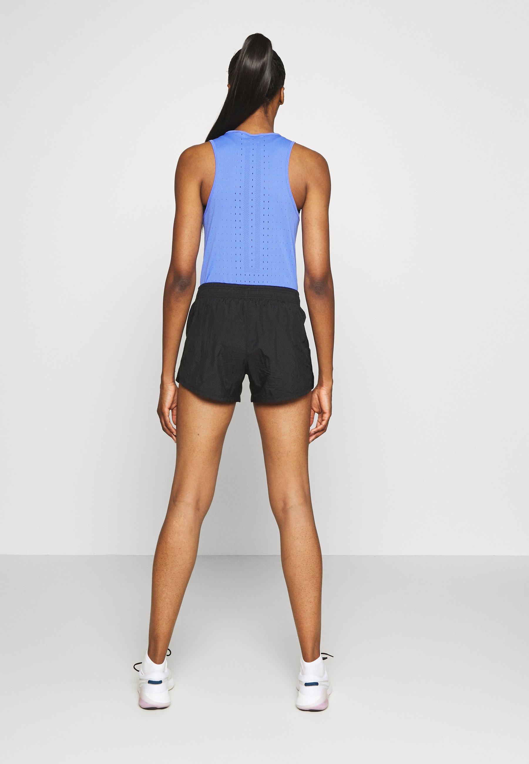 Nike Performance RUN SHORT - Sports shorts - black/white fKmkO