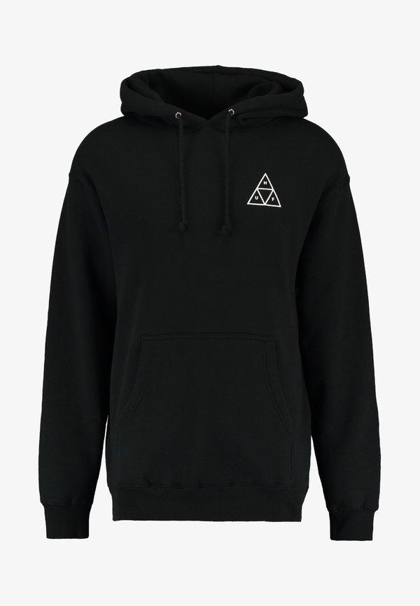 HUF ESSENTIALS HOODIE - Bluza z kapturem - black/czarny Odzież Męska NPLV