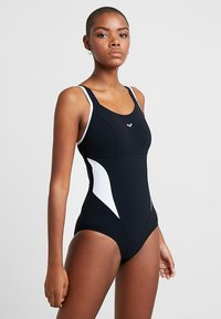 Arena - MAKIMURAX LOW CUP - Swimsuit - black/white