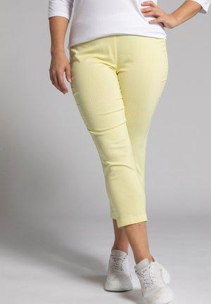 Pantalon classique - helles limonengelb