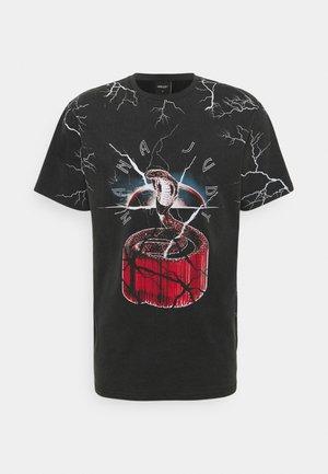 T-shirt imprimé - vintage black