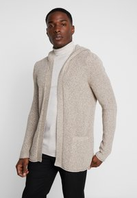 Pier One - Cardigan -  mottled beige - 0