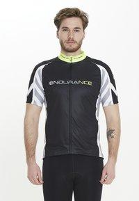 Endurance - RADTRIKOT PARMER M CYCLING - Print T-shirt - black - 0
