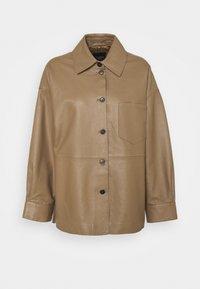 NICOLA - Leather jacket - camel