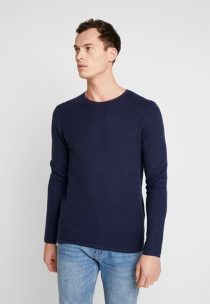 ZIGZAG STRUCTURED CREWNECK - Trui - sky captain blue