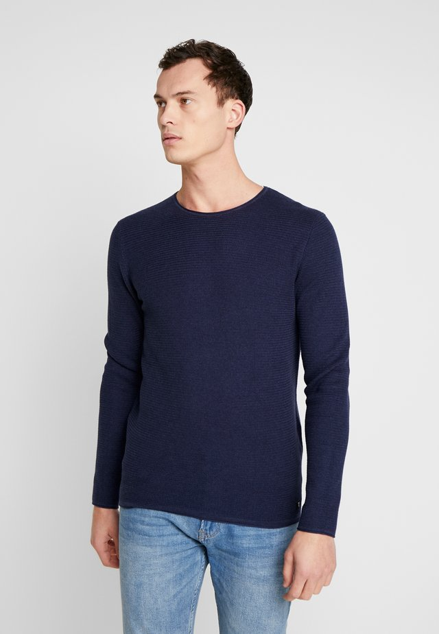 ZIGZAG STRUCTURED CREWNECK - Maglione - sky captain blue