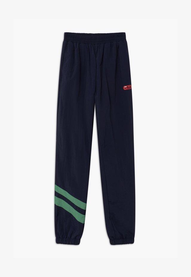 CHUCK WIND - Teplákové kalhoty - black iris/ginko green