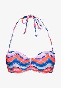 Venice Beach - WIRE BANDEAU - Top de bikini - blue/orange - 3