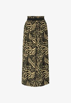 Maxi skirt - black animal print