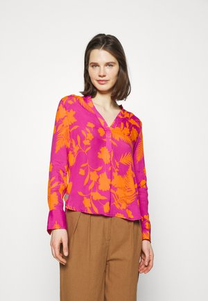 Long sleeved top - orange/pink