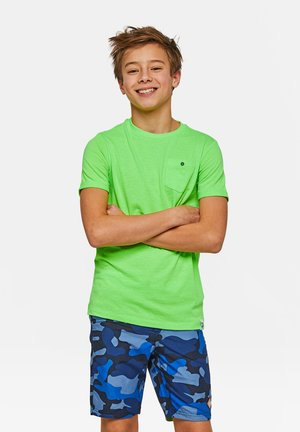 WE FASHION JONGENS NEON T-SHIRT - Basic T-shirt - green