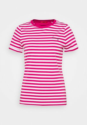 THE SLIM TEE - T-shirt z nadrukiem - bright pink