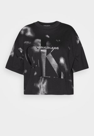 PLUS CLOUD WASHED TEE - T-shirts med print - black