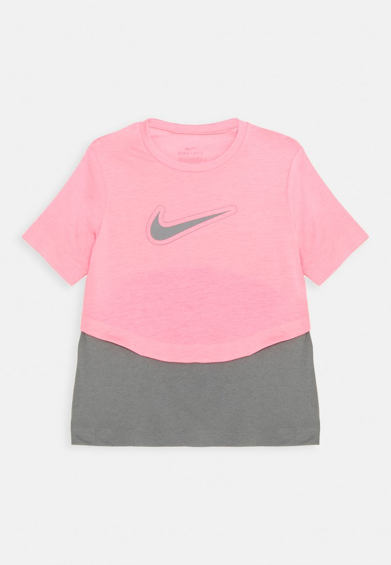 Nike Performance - DRY TROPHY  - Camiseta estampada - sunset pulse/smoke grey