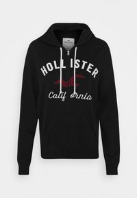 Hollister Co. - TERRY TECH CORE - Hettejakke - black