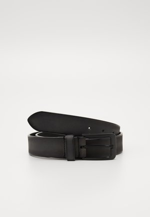 UNISEX LEATHER - Belt - dark grey