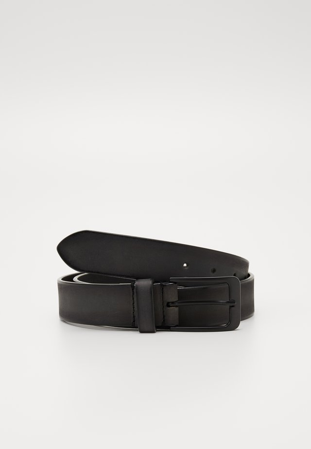 UNISEX LEATHER - Belt - dark grey